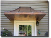 Copper Sweep Awning