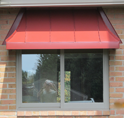 Cypress Sweep Awning Colonial Red Kynar 500