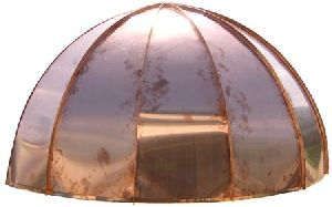 Copper Dome Standing Seam Awning