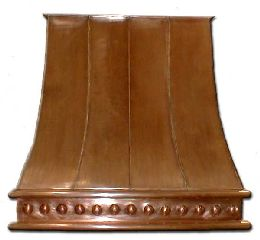 Colonial Style Copper Kitchen Hood