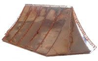 Concave Curved Copper Bay Window Roof with Returned Ends