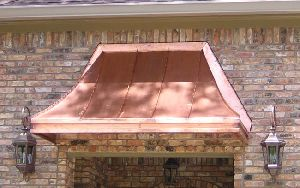Sixty Degree End Copper Sweep Awning