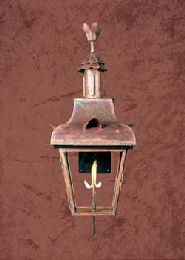 Romantic French Style Copper Gas Light
