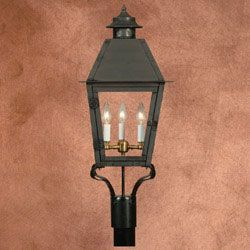 Four Sided Traditional Style Copper Gas Light