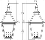 Traditional Style Copper Gas Light