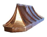 French Sweep Chamfered Corner Copper Awning