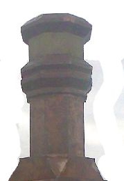 Sculpted Copper Chimney Pot on French Chamfered Pedestel